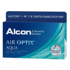 Контактные линзы Air Optix Aqua (Аир оптикс аква) 6 линз