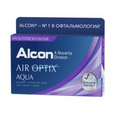 Мультифокальные контактные линзы AIR Optix Aqua MultiFocal (Эйр оптикс аква мультифокал), 3 штуки