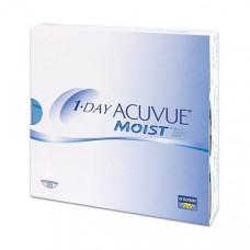Контактные линзы Acuvue One Day Moist (Акувью уан дэй моист), 90 штук
