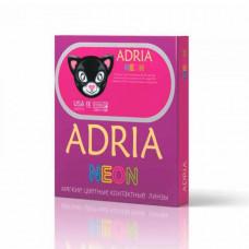 Клубные цветные неоновые контактные линзы Adria Neon, 2 линзы